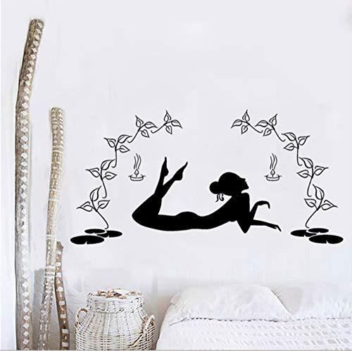 Finloveg Slim Body Girl Wandaufkleber Home Badezimmer Dekor Kunst Wandbild Waschraum Wasserdicht Decals Tapeten Monochrom 40X60Cm (Affe Badezimmer-dekor Kids)