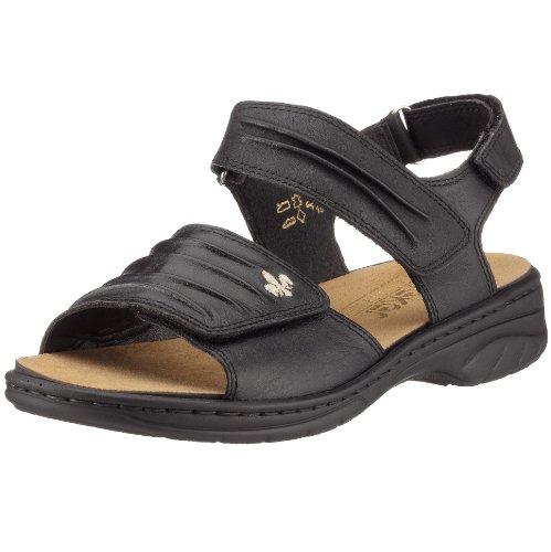 Rieker Annett 64560-01, Damen Sandalen/Fashion-Sandalen, schwarz, (schwarz), EU 37