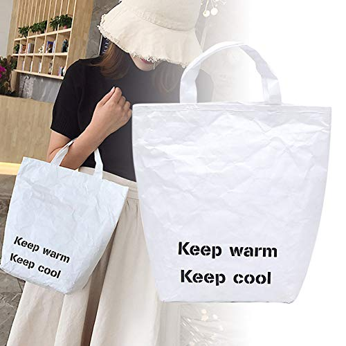 Leobtain Women Grocery Tote Environmental Protecting Paper Reusable Shopping Bags Lightweight Handbag for Travel Shopping and Work -