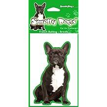 BullDog francés (Brindle) perro regalo–2x. Ideal ambientadores para el coche