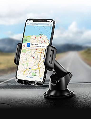 Handyhalter fürs Auto,Mpow Upgrade KFZ Smartphone Halterung,Armaturenbrett/Windschutzscheibe Universal autohandyhalter mit Gel-Auflage&Teleskoparm,2 in 1 HandyHalterung Auto für iPhoneXS Galaxay & GPS (Kleber Für Die Windschutzscheibe)