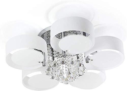 ALFRED LED Moderne Acryl Kristall Kronleuchter 5 Lichter (Chrom) Moderne Deckenleuchte Fixture für, Flur, Schlafzimmer, Wohnzimmer
