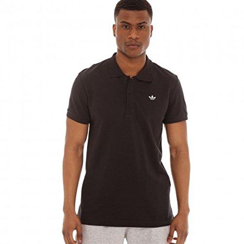 Adidas Originals Trefoil Pique Polo in Nero, Uomo, - Black, S