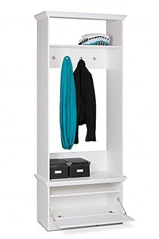Garderobe 'Fiona 41' Landhaus 80x200x39 Weiß