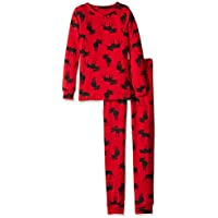 Hatley Kids Pj Set (Ovl) -Moose On Red, Pigiama