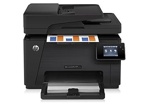 HP Color LaserJet Pro M177fw Farblaserdrucker Multifunktionsgerät (Drucker, Dcanner, Kopierer, Fax, WLAN, LAN, HP ePrint, Airprint, USB, 600 x 600 dpi) schwarz