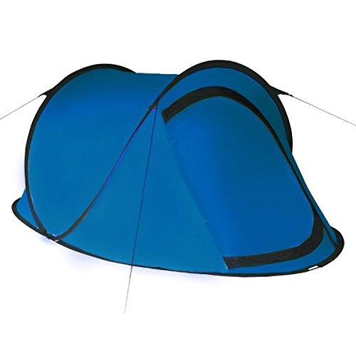 Pop-Up-Zelt-Wurfzelt-JUMP-fr-2-Personen-fr-Camping-Festival-und-mehr-von-BB-Sport-Wassersule-3000-Farbeblau