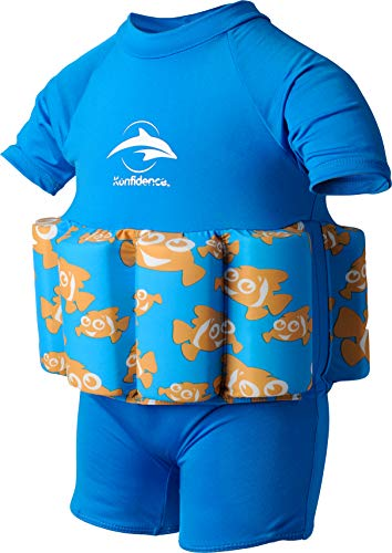 Konfidence Badeanzug mit Schwimmhilfe 1-2 Jahre Blau - Clownfish