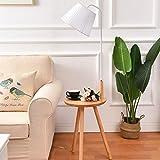 LEI ZE JUN UK Stehlampe- Massivholz Stehlampe, Wohnzimmer Nachttisch Nordic Stehleuchte Vertikale Regale Couchtisch Lichter mit weißem Licht Pole Stehleuchten (Farbe : Weiß)