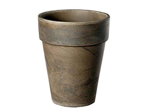 meindekoartikel Blumentopf Marmoriert aus Ton (Hell oder Basalt) - Übertopf Pflanztopf - verschiedene Größen (Ø 21 cm - Höhe 25 cm, Basalt-Marmoriert)