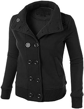 BOMOVO Mujeres con capucha de más suéter de las mujeres de comercio exterior cruzado Negro