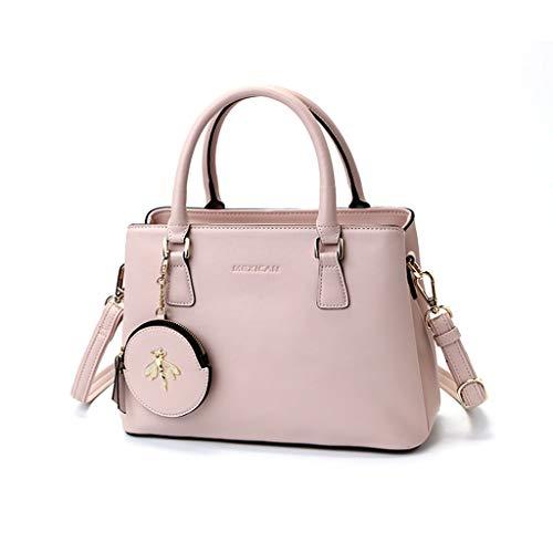 Lady Bag Charme (Damen Handtasche PU Leder High Capacity Schulter Messenger Bag Lady Taschen Wild Leisure Big Bag (Color : Pink))