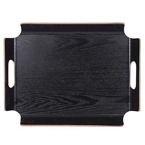 Plateau rectangle 44.5 x 33.5 cm No Angle noir