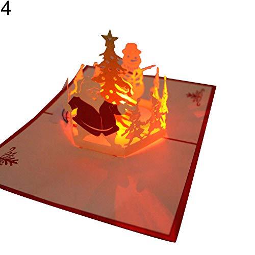 mit Musik-Licht handgefertigt Geburtstag Weihnachten Postkarte Geschenk Karte 4 ()