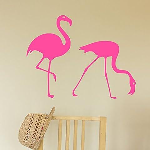 2 Flamingos Decal Sticker, Wall Art, Appliances, Car