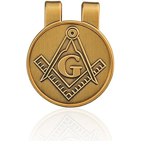 Fengteng Titular Masónico Freemason Clip del Dinero de la Tarjeta de Crédito del Tono de Oro Pinzas para Billetes
