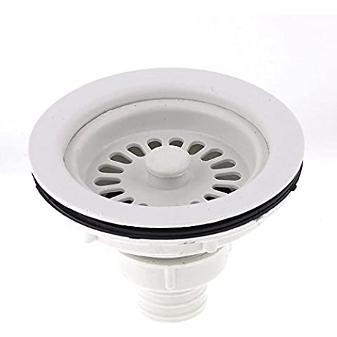 Fregadero de drenaje de plástico cesta de filtro tapón de 4,3 pulgadas de diámetro Blanca