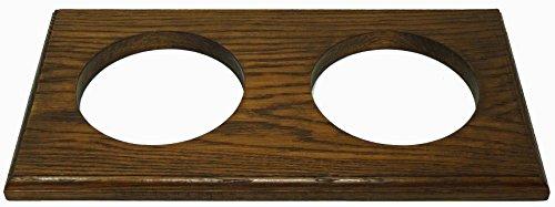 Tabic Massiv Englisch Doppel Eiche Halterung, Barometer Thermometer tideclock Uhr römisch und Arabisch Uhr, Eiche Massiv, Handgefertigt in England -
