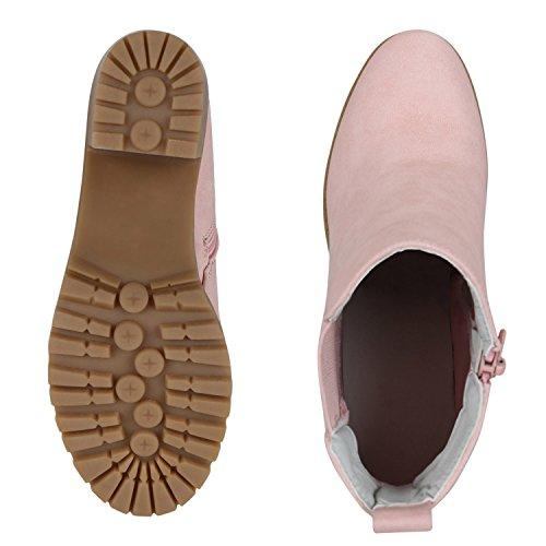 Chelsea Botas Rosa Vendas Ankle Em Boots Sapatos Mulheres Perfil De Bloco Únicos w7qxEaxU
