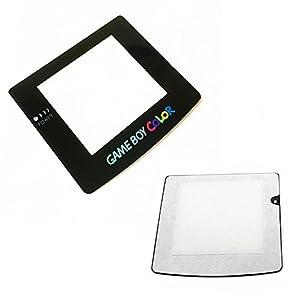 Schwarz Bildschirm Objektiv Schutzhülle Displayschutzfolie Teil für Game Boy Color GBC System Ersatz (mit Rückseite selbstklebend)
