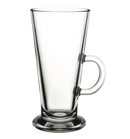Pasabahce 55153 Colombian Kaffeeglas mit Henkel, 360 ml, Glas, transparent, 6 Stück
