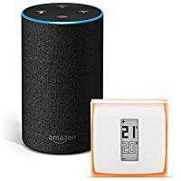 Amazon Echo (2.ª generación), tela de color antracita + Netatmo Termostato Inteligente