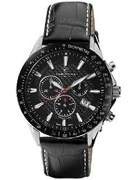 Christina Design London 516SBLBL - Reloj analógico de cuarzo para hombre, correa de cuero color negro