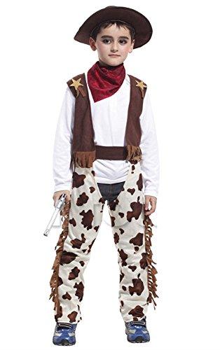 Inception Pro Infinite Costume - Cowboy - Bambino - Carnevale - Halloween - Cosplay (Taglia L 120-130 cm )