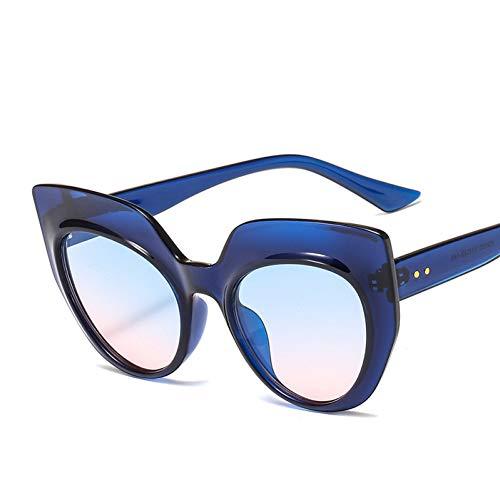 Taiyangcheng Polarisierte Sonnenbrille Weinlese-Katzenauge-Sonnenbrille-Frauen-Marken-Entwurf breiter transparenter Rahmen-Steigungs-Sonnenbrille-Mann-Frau-Farbton-Brillen Uv400,a4