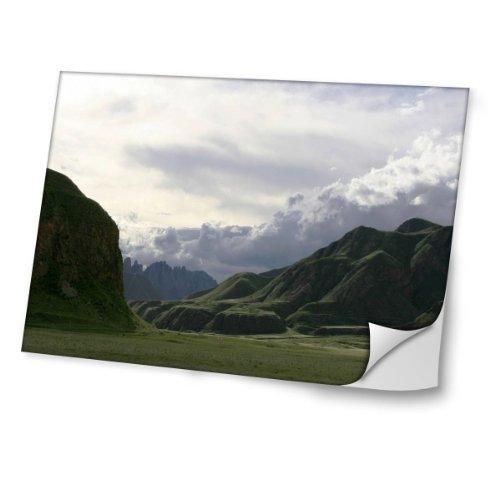 """Preisvergleich Produktbild Natur 10005,  Berge,  Skin-Aufkleber Folie Sticker Laptop Vinyl Designfolie Decal mit Ledernachbildung Laminat und Farbig Design für Laptop 17"""""""