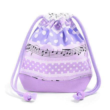 Polka dots popping gioco melodia ritmo coulisse Gokigen pranzo al sacco (di piccola dimensione) Tazza tassello (lavanda) x Ox rosa made in Japan N3572200 (japan import)
