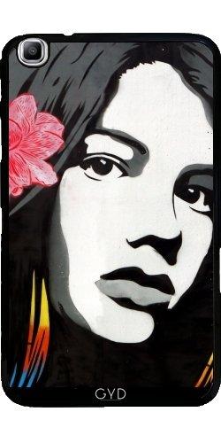 Hülle für Samsung Galaxy Tab3 8.0 SM-T310 - Straßenkunst Graffiti Mädchen Vögel by Petra