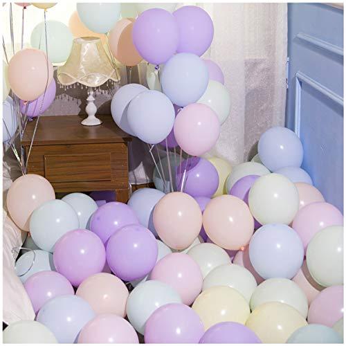 Vascinate 100 PCS Latex Luftballons, 10 Zoll Bunte Latex Ballons , Ballon Dekoration für Party Deko, Hochzeit, Geburtstag, Baby-Duschen