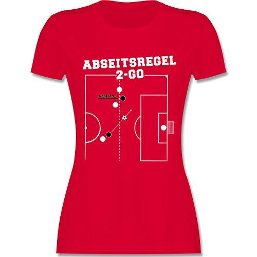 Fußball - Abseitsregel-2-Go - tailliertes Premium T-Shirt mit Rundhalsausschnitt für Damen Rot