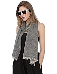 Textured Cotton Chambray Scarf