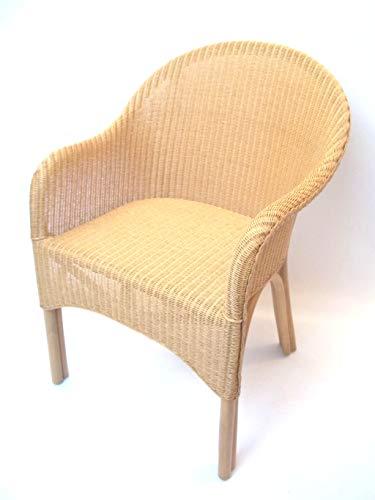 Sessel/Stühle Chaise avec accoudoirs en Loom Exklusiv avec rattangestell Clair, Couleur Naturelle