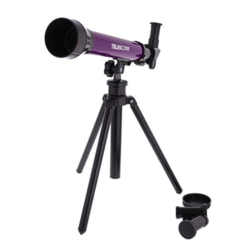 MagiDeal Purple Astronomical Telescope w/ Tripod Play Set Kids Students Educational Toy Creative Gifts