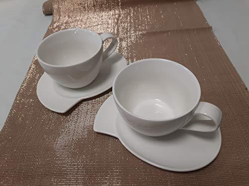 Crofton Luxus Design Cappucino Tassen Set Chefs Collection