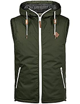 !Solid Tilux Chaleco Chaqueta Sin Mangas Outdoor Para Hombre Con Capucha