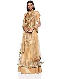 Ashima Leena Women's Dress Suit (Pack of 3) (AL-004_S_Gold_34)