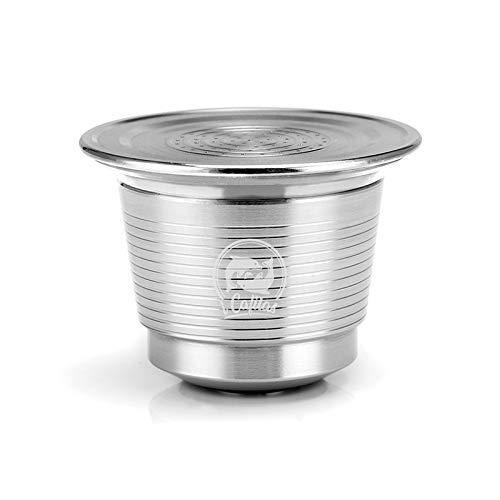 zhang-hongjun,Gefüllte Kaffee-Kapselhülle Recycling-Filter Edelstahl-Kaffeefilter(color:SILBER)