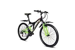 Hercules Wayfinder Aluminum Bike, Kids 24-inch (Pitch Black/Green)