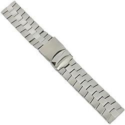 Uhrbanddealer 22mm Ersatzband Uhrenarmband Band Edelstahl mit Sicherheitsschließe 70922