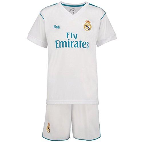 Real Madrid Ronaldo Fussball Trikot Kinder 17/18 - Trikotsatz - Günstig - Fußball Shorts - Replica - Fussball Trikot Kaufen - Fußballbekleidung (140)
