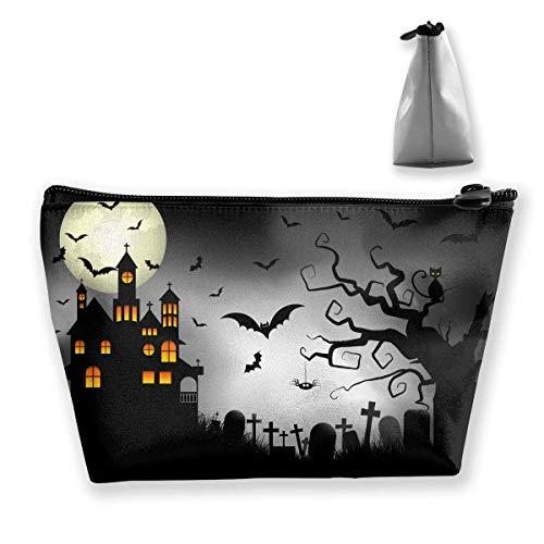 Cartoon Spooky Halloween Women Makeup Bags Multifunktions-Kulturbeutel Organizer Travel Wash Lagerung (Trapez)