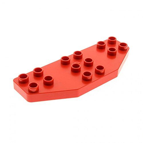 Bausteine gebraucht 1 x Lego Duplo Tragfläche Rot Ruder Flügel Platte 8 x 3 8x3 Passagier Flugzeug Jet Airplane 2641 2156