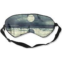 Sleep Eye Mask Sea Moon Lightweight Soft Blindfold Adjustable Head Strap Eyeshade Travel Eyepatch preisvergleich bei billige-tabletten.eu
