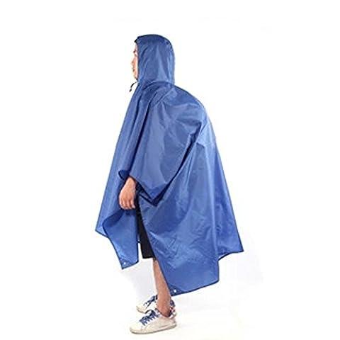 Multifunction Outdoor Climbing Cycling Rain Cover Triple Backpack Climbing Raincoat Poncho Waterproof Camping Tent Mat