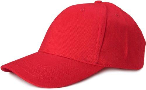 styleBREAKER Klassisches 6 Panel Cap mit gebürsteter Oberfläche (Rot)