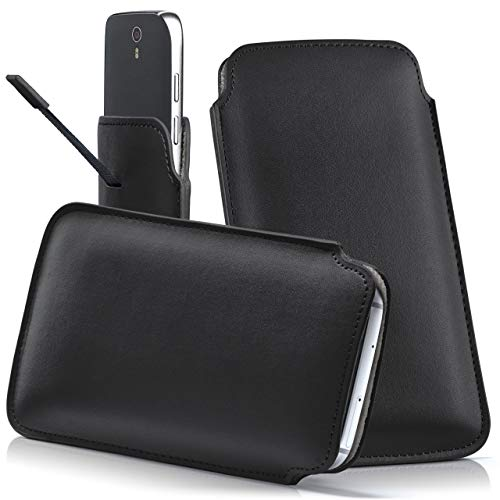 moex JIAYU F2 | Hülle Schwarz Sleeve Slide Cover Ultra-Slim Schutzhülle Dünn Handyhülle für JIAYU F2 Case Full Body Handytasche Kunst-Leder Tasche